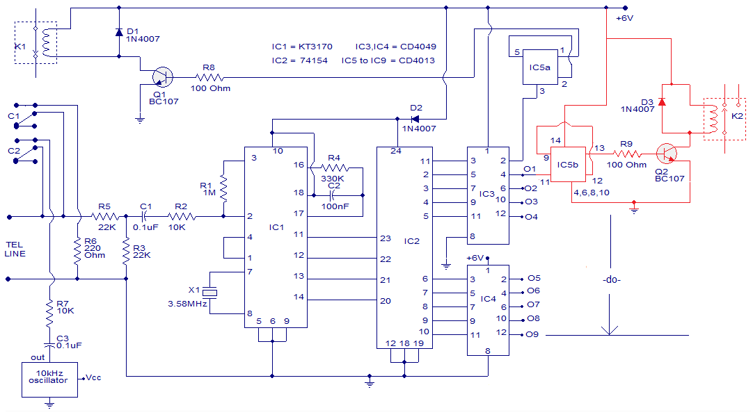 Telephone%252BDTMF%252BRemote%252BControl dtmf circuit telephone circuits next gr Basic Telephone Wiring Diagram at gsmx.co