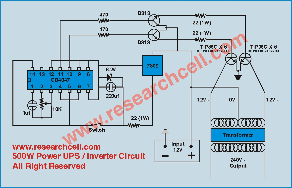 500 Watt Inverter Circuit Diagram Datasheet - DIY Enthusiasts Wiring ...