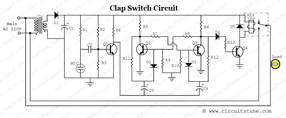 Clap Switch Circuit Project