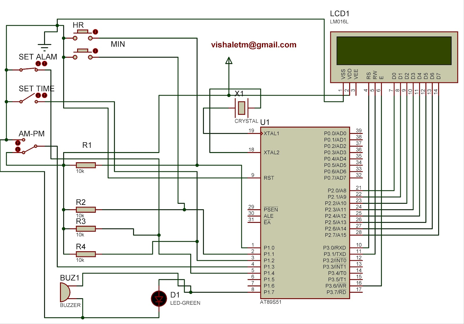 circuit diagram electronic circuit diagram 12 or 24 hours