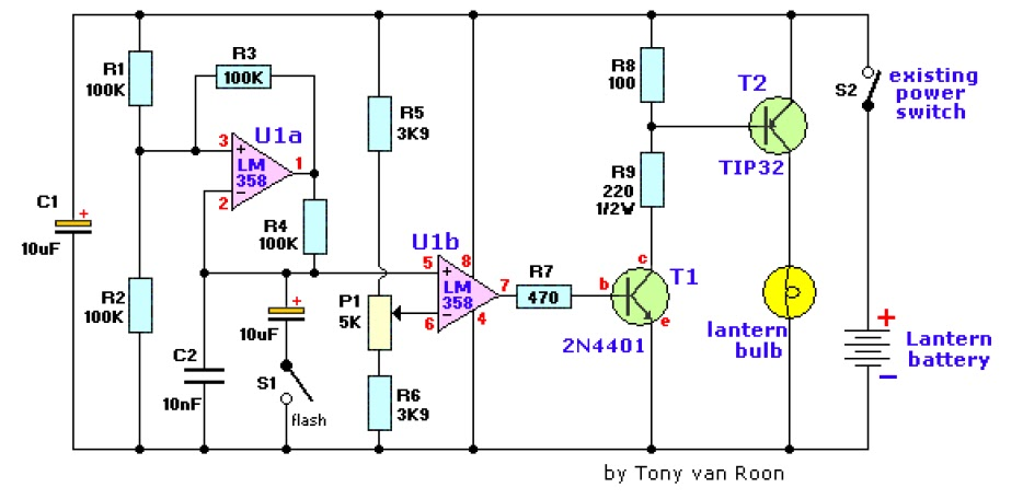 Lantern Dimmer Flasher Circuit Diagram Under Repository