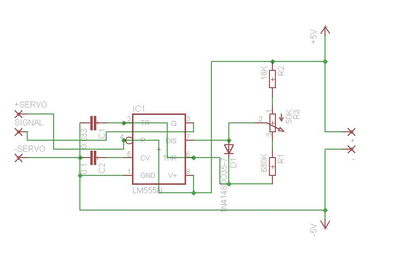 how to test servo servo tester simple - schematic
