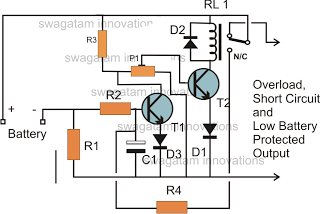 Circuits Low Battery Cut Off And Overload Protection
