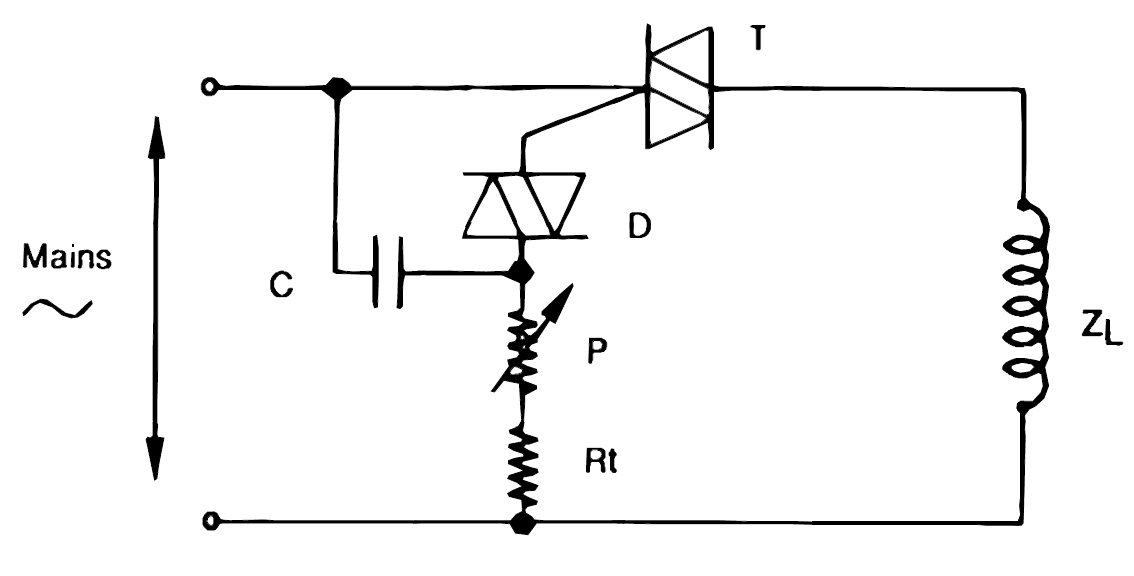 how to use triacs for inductive loads - schematic