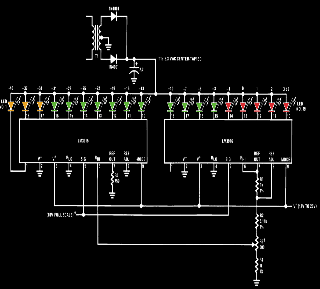Vu Meter Circuit Page 2 Counter Circuits 3 Nextgr How To Make Simple At