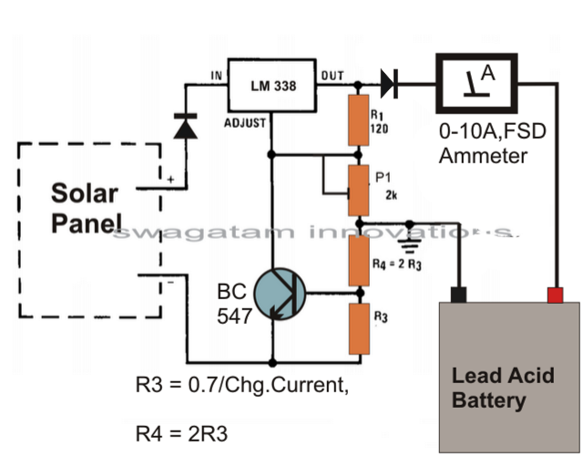 battery charger circuit page    power supply circuits    next grhow to make solar battery charger