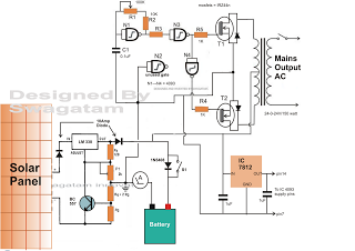 how to make solar inverter circuit - schematic