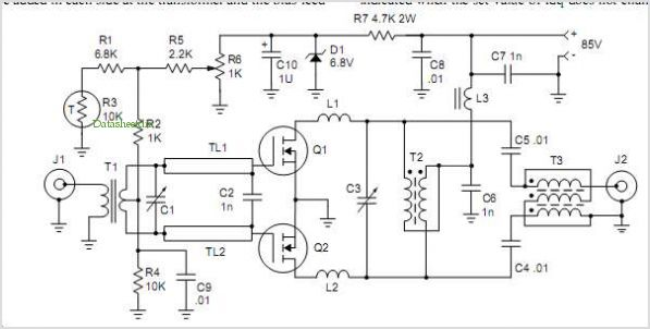 300w Mosfet Linear Amplifier For 50 Mhz - schematic