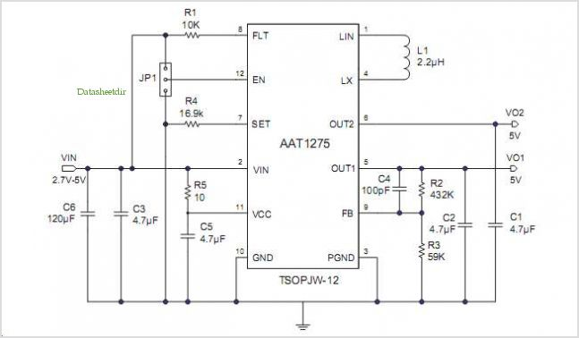 Boost Converter With Usb Power Switch - schematic