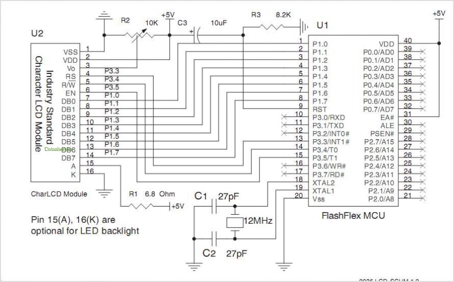 Flashflex Microcontroller Control Of Character Lcd Module