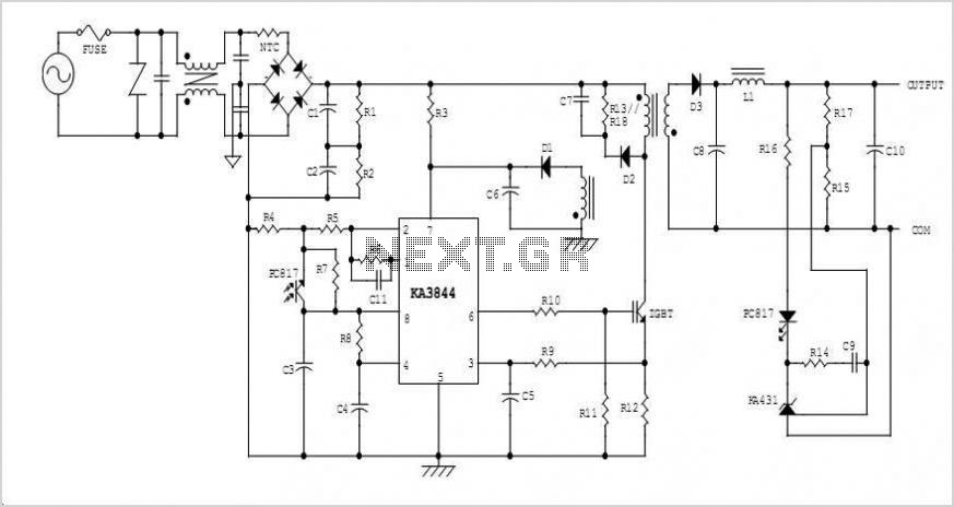High Input Voltage Off-line Flyback Switching Power Supply Using Fsc Igbt (sgl5n150uf) - schematic