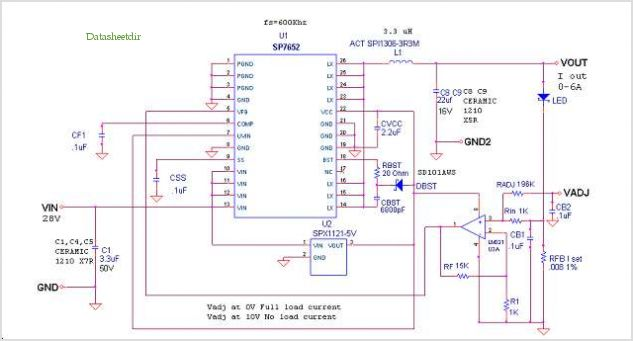 High Power Led Driver With Dimmer - schematic