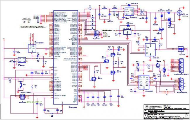 Lin-bus Hid Lamp Levelling Stepper Motor Control Using Motorola 908e625 Reference Design - schematic
