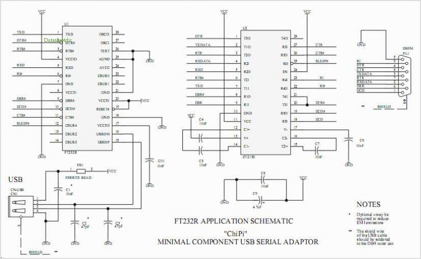 Usb To Rs232 Converter Schematic: circuits e Minimum Component Ft232rl Usb To Rs232 Converter Cable rh:next.gr,Design