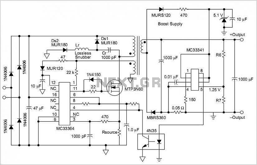 Switching Power Supply With Voltage And Current Limiting circuit