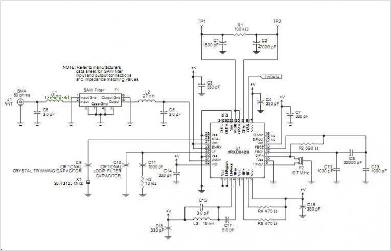 Rfrxd0420 Ask Receiver Reference Design - schematic