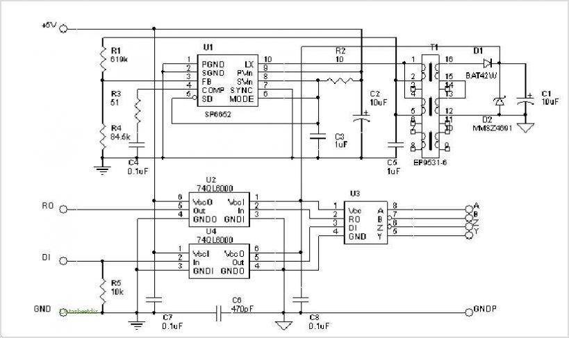 Rs-485 Isolated Interface - schematic