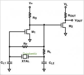 Ultra Low Voltage Micropower Crystal Oscillator Circuit - schematic