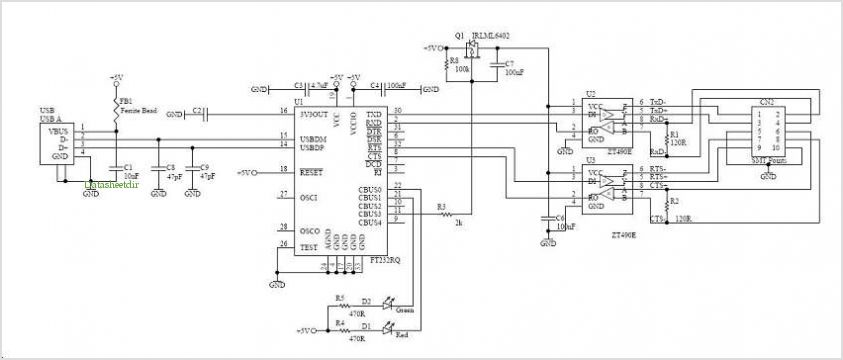 32 Rs422 To Rs232 Converter Circuit Diagram