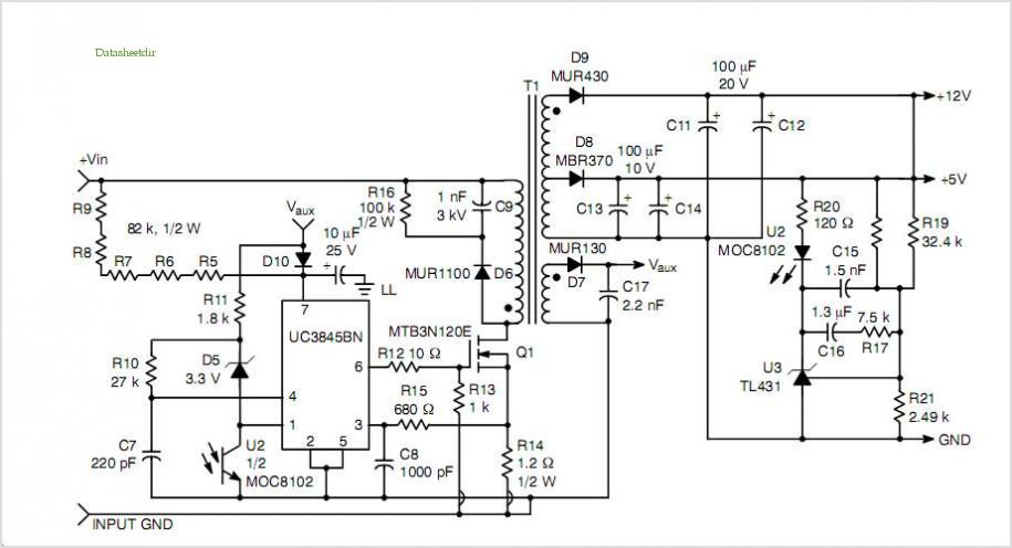 switching power supply schematic - schematic