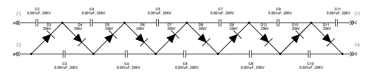 250 kV High Voltage DC Power Supply with Neat Trick for Switching Polarity - schematic