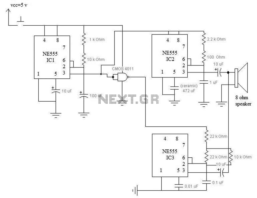 Door Bell Circuits - schematic