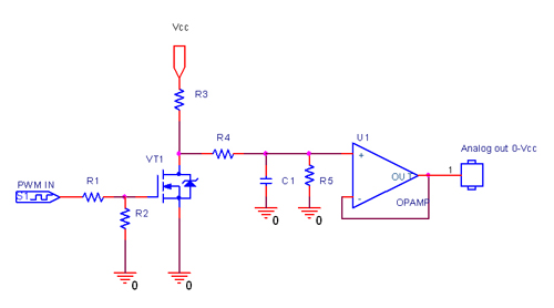 Digital-to-analog converter (DAC) - schematic