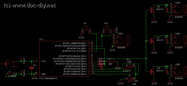 delay circuit for photography - schematic