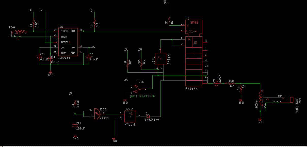 Lfsr Linear Feedback Shift Register Vintage Atari Noise Schematic