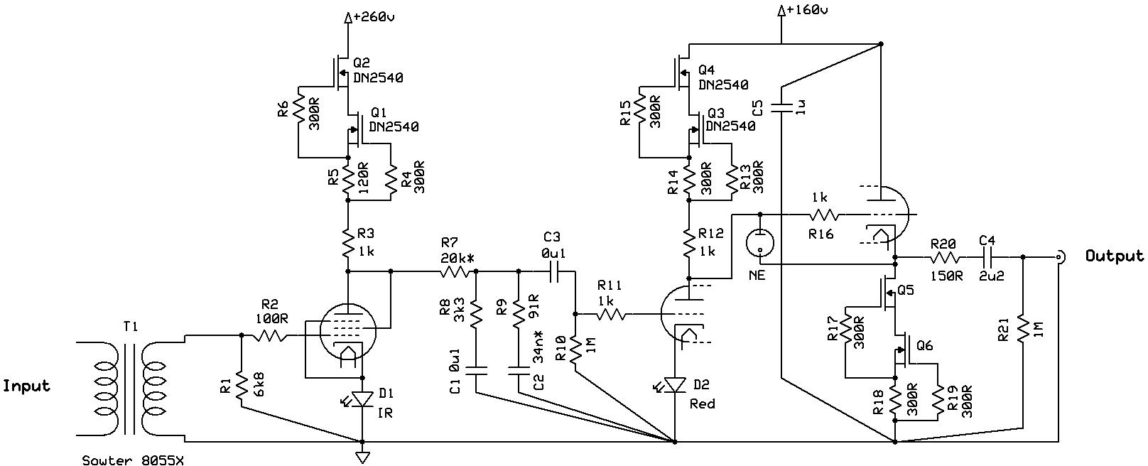 Audio Preamplifiers Circuits Page 7 Dynamic Microphone Preamplifier Mono By 3 Transister C945 His Masters Noise A Thoroughly Modern Tube Phono Preamp