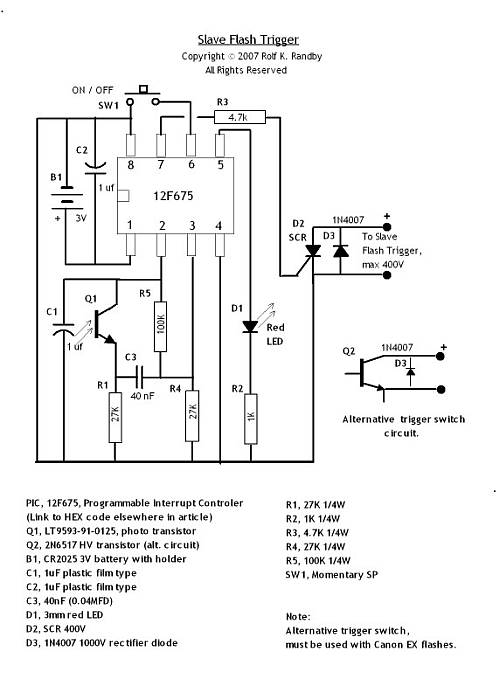 Very Cool Optical Slave Unit - schematic