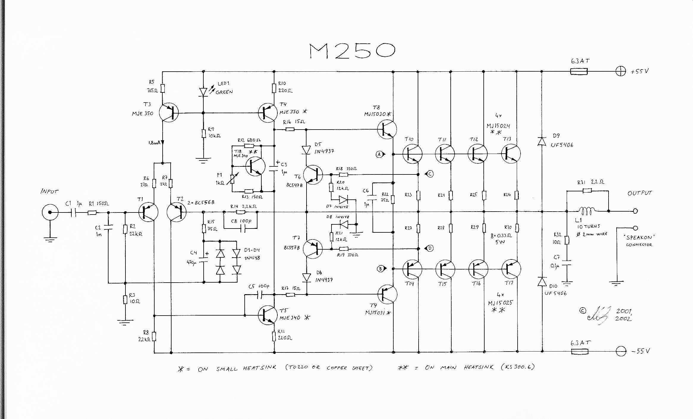 Audio Amplifier Circuit Page 6 Circuits Bridge 5w 8 Ohms Design 250 Watt