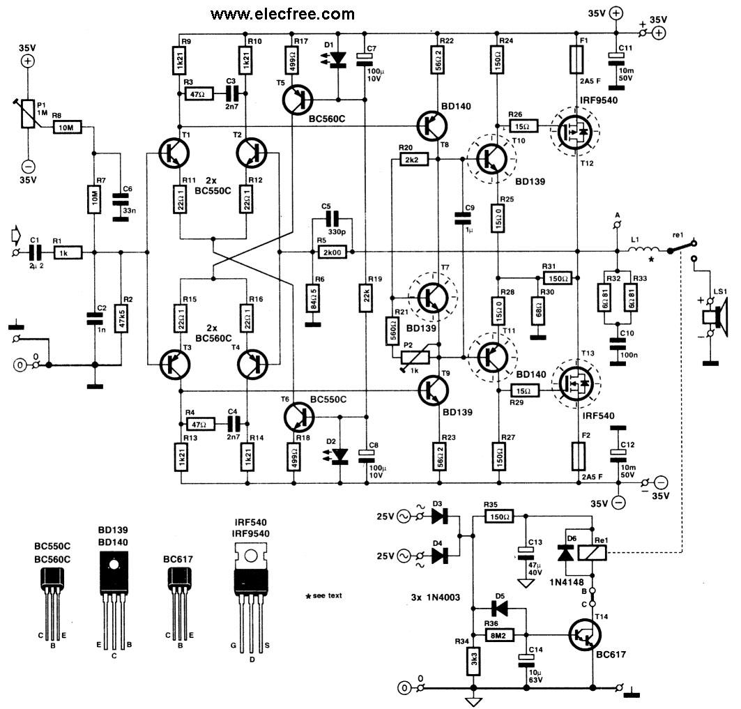 Diagram Schematic besides 1000w Audio  lifier Circuit Diagram Wiring Diagrams further New Listings467 as well 500 Watt Power  lifier Schematic together with 300watt Audio  lifier Hifi By Mj15003 Mj15004 Transistor. on best 100 watt mosfet amplifier schematic