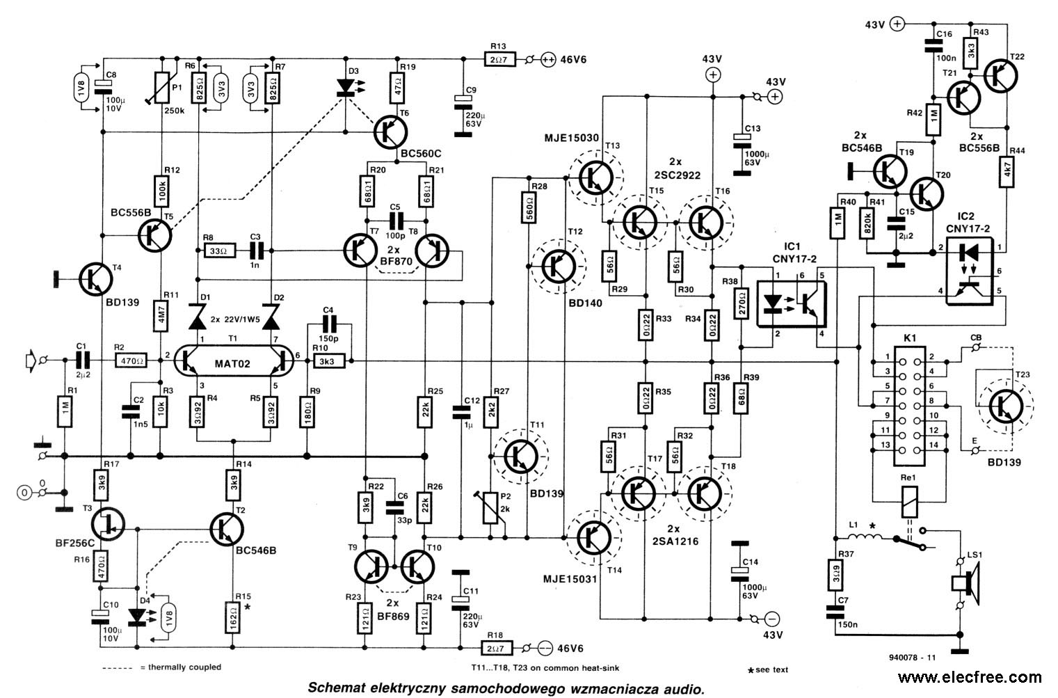 Audio Amplifier Circuit Page 14 Audio Circuits Next Gr