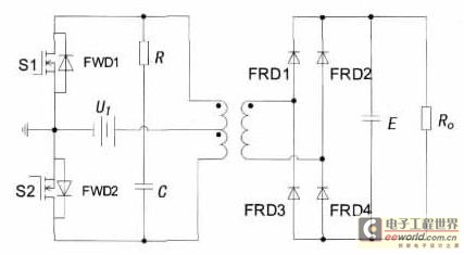 24VDC-220VDC vehicle carried switching power supply based on inverter circuit - schematic