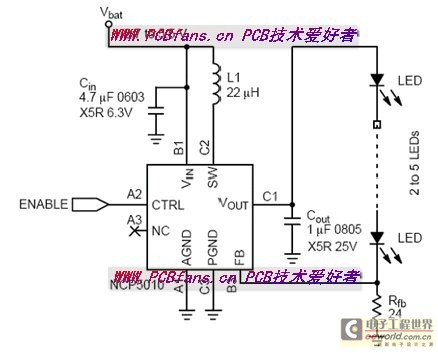 Small-scale LCD LED in a poor light drives the circuit design consideration - schematic