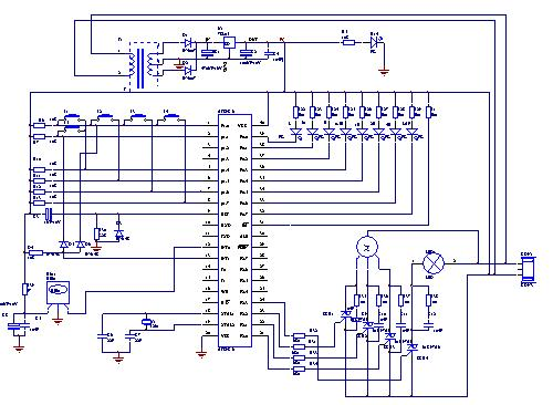Mentality of designing of electric fan of infrared remote-control command - schematic