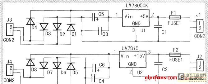 The single-phase sine wave frequency conversion stabilized voltage supply is designed and made - schematic