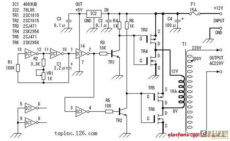 Circuit DIY of the inverter (picture and text is explained in detail) - schematic