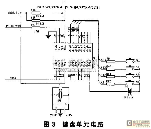 the design of the gas detector of LPC221 - schematic