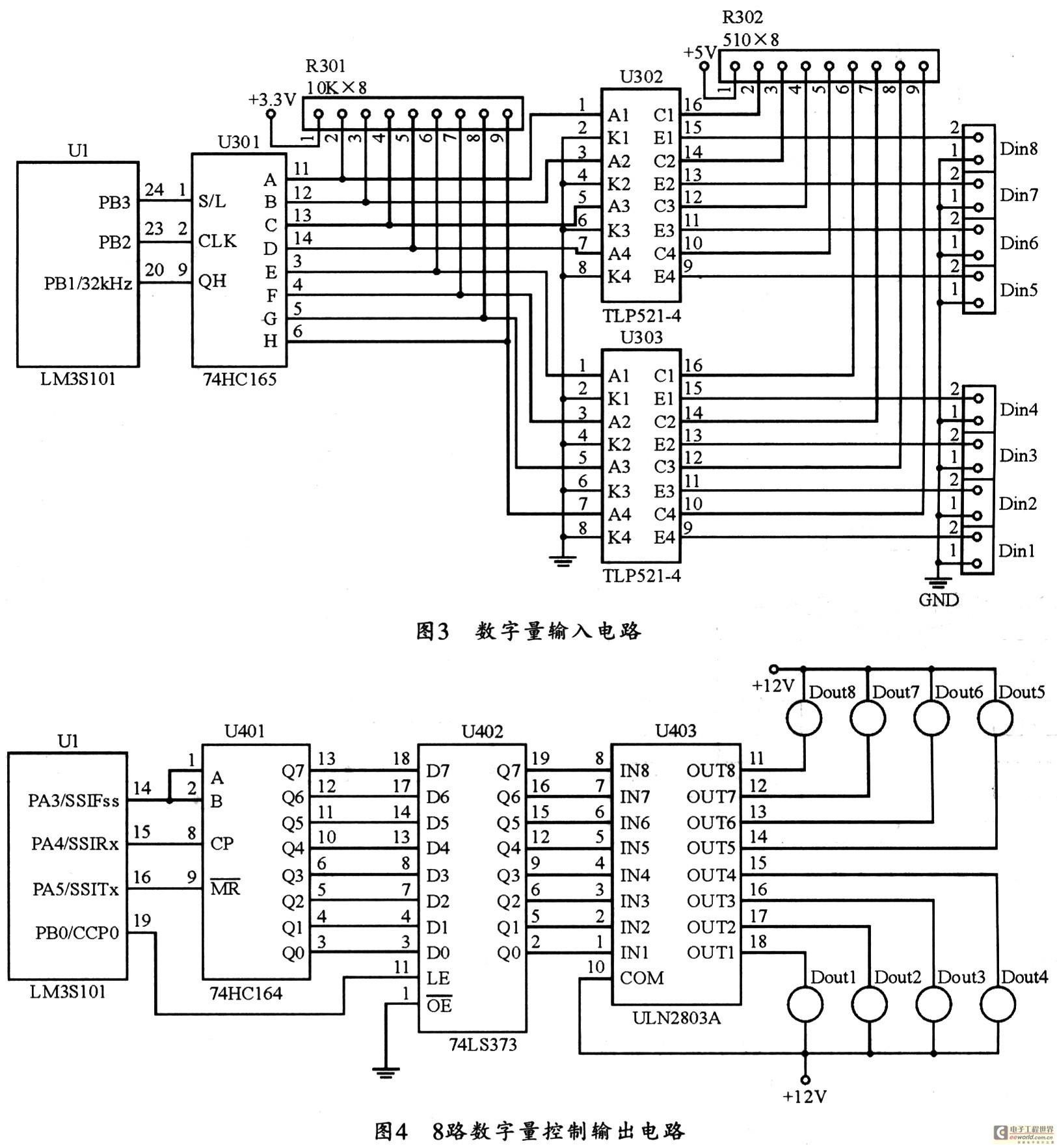 The figure based on LM3S101 adopts the controller to design