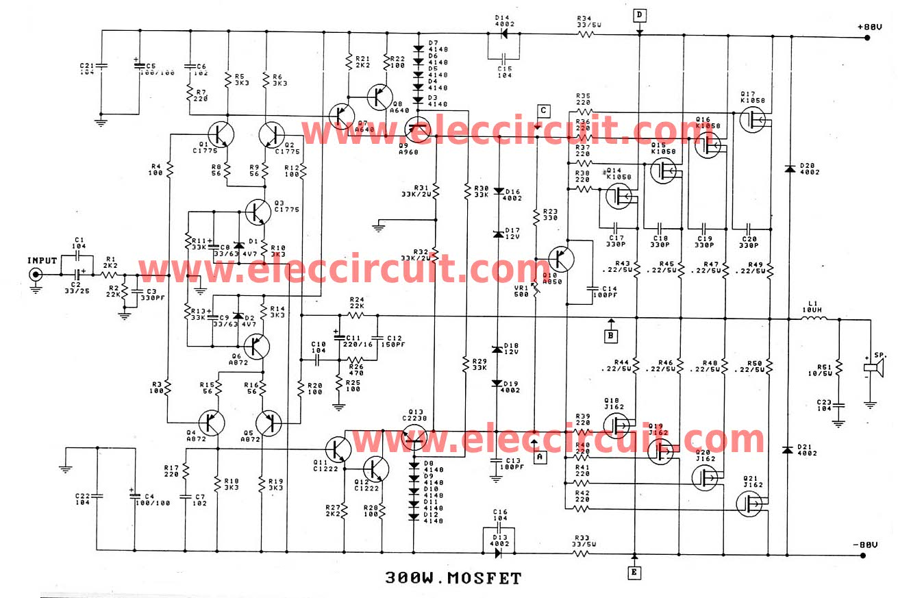 Mosfet Circuit Page 6 Other Circuits 2 Lamp Flasher Using 300 Watt 1200 Amplifier For Professionals Only