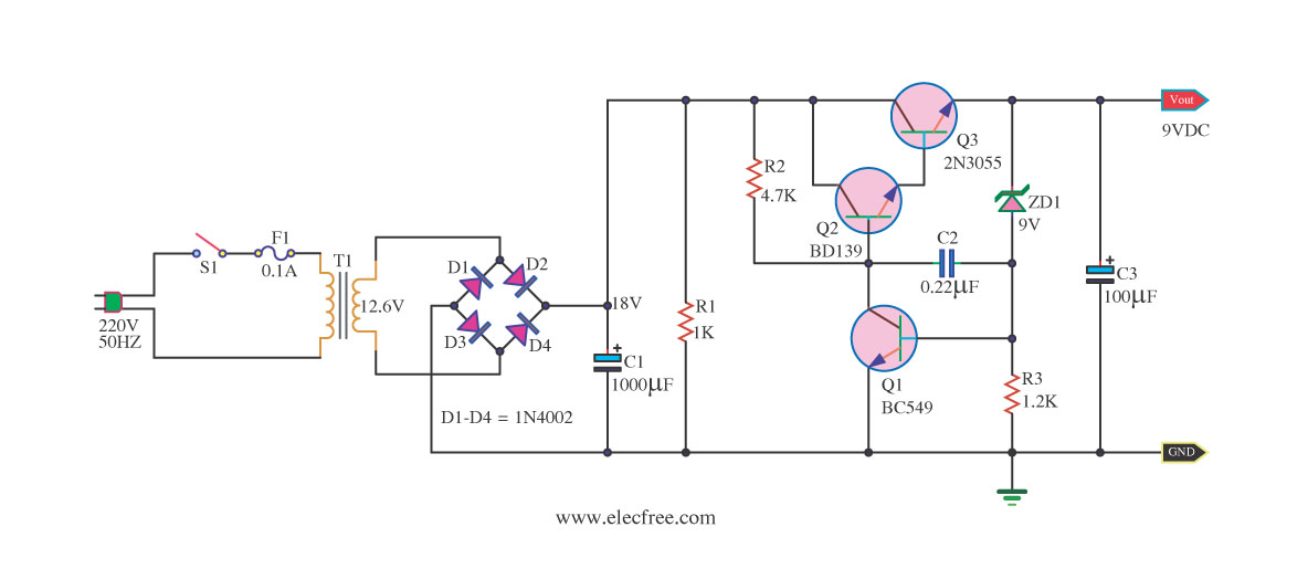 High Power Supply Regulater 0 30v 20a By Lm338 in addition Page12 besides Best Dc Power Supply 3  To Adjust 1 2v 20v 3v 6v 9v 12v further Lm2673 5v 3a Switching Voltage Regulator furthermore Dc Power Supply Simulation Trouble. on 2n3055 voltage regulator diagram