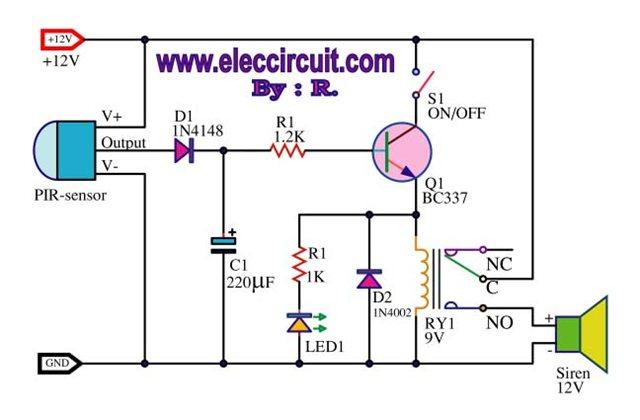 Circuits pir motion sensor alarm circuit l40875 next pir motion sensor alarm circuit schematic asfbconference2016 Gallery