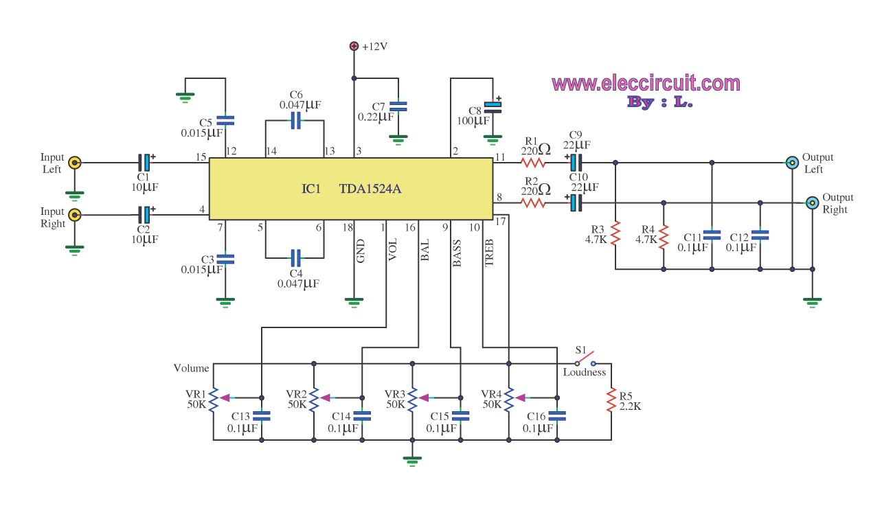 Results Page 7 About Tda 7088 Searching Circuits At Tda1562q Audio Power Amplifier Mono Stereo Tone Control Circuit Using Ic Tda1524a