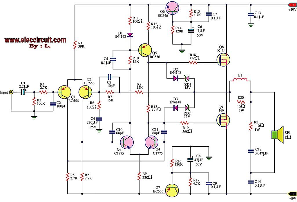 first power mosfet amplifier by k134+j49