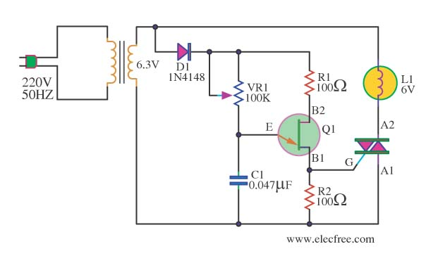 AC Dimmer for Lamp 6.3V - schematic