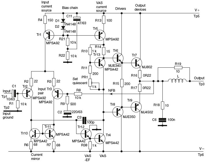 Power Supply Rail Rejection - schematic