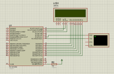 PIC18F4550 Communication with PC using USB - schematic