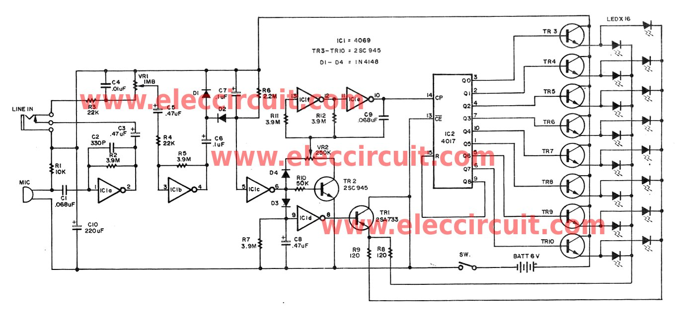 Led Circuit Page 15 Light Laser Circuits Dimmable Cheap Christmas Flasher Is Controlled By Audio